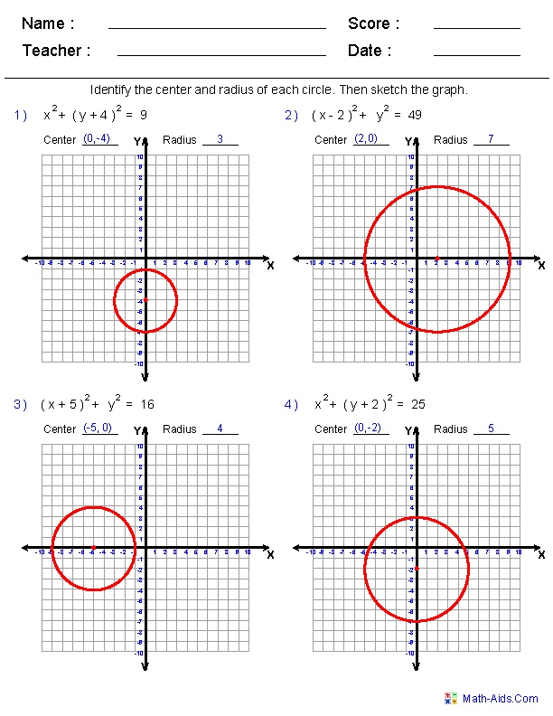 Equation Of A Circle Worksheet Free Worksheets Library – Equations of Circles Worksheet