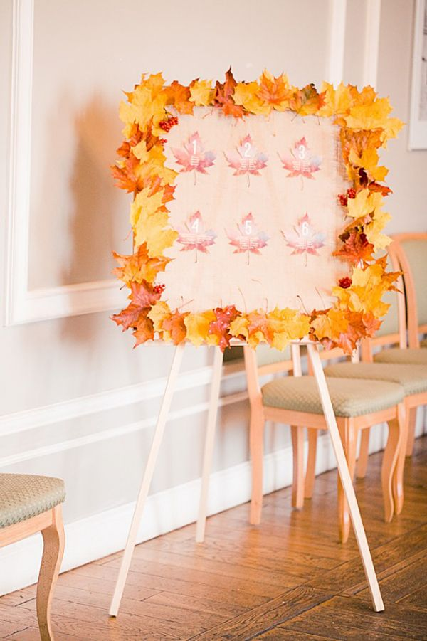 Lovely fall wedding inspiration. This would be super easy to DIY.