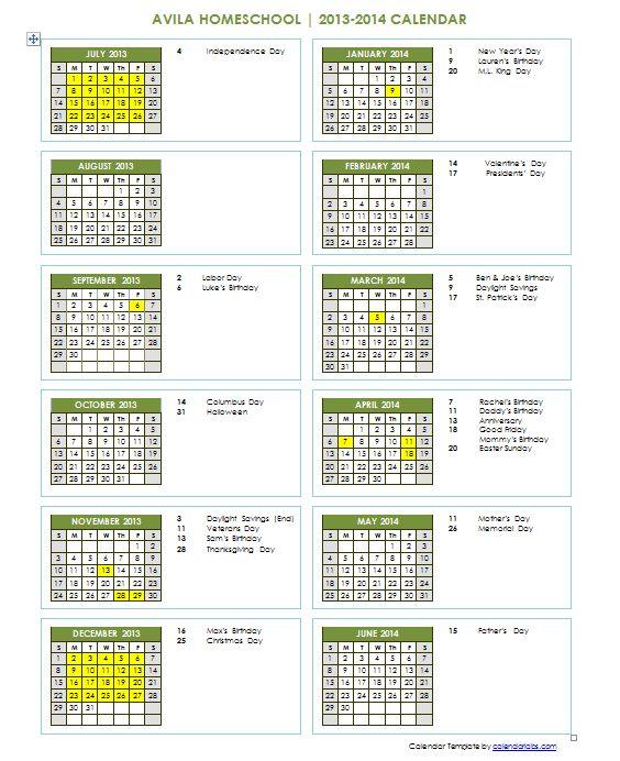 85 best Homeschool Schedules and Routines images on Pinterest - sample school calendar