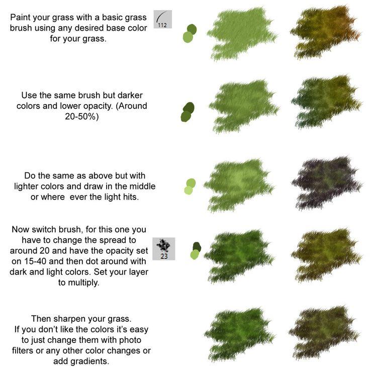 Easy Grass Photoshop Tutorial by Rimisa.deviantart.com on @DeviantArt