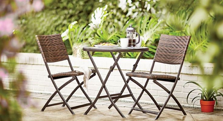 Patio Dining Set Outdoor Furniture Coffee Table Garden Chair Bistro Pool Yard  #Unbranded