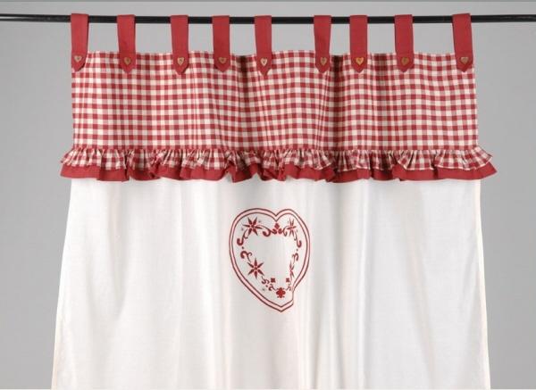19 best images about curtains on pinterest window - Deco cuisine rouge et blanc ...