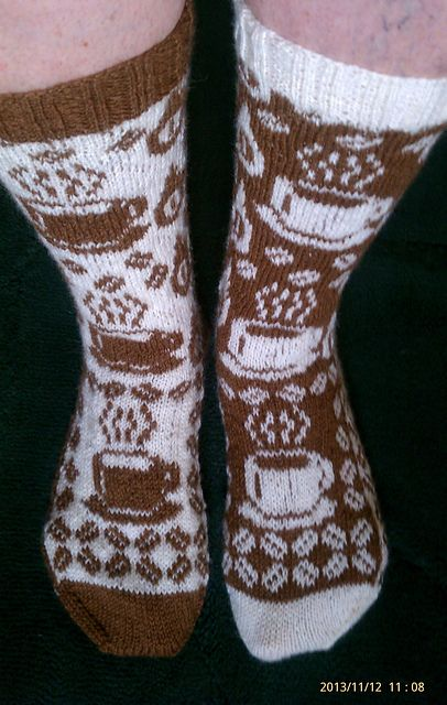 Ravelry: Gimme Coffee pattern by Karin Aida - would love to knit these for a coffee lover :-)