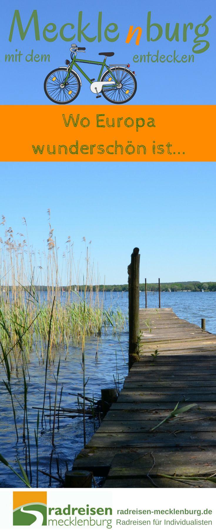 Entdecke in der Mitte Europas eine der schönsten Seenlandschaften, am besten mit dem #Fahrrad. #Mecklenburg #Deutschland #Reisetipp