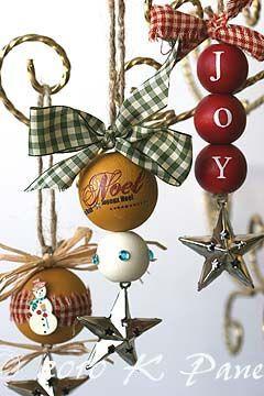 lovely rustic handmade ornaments.