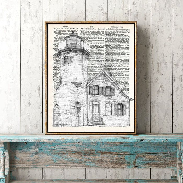 White lighthouse by secondprints on Etsy