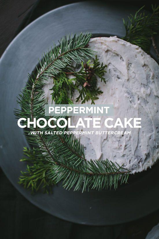 peppermint chocolate cake | designlovefest