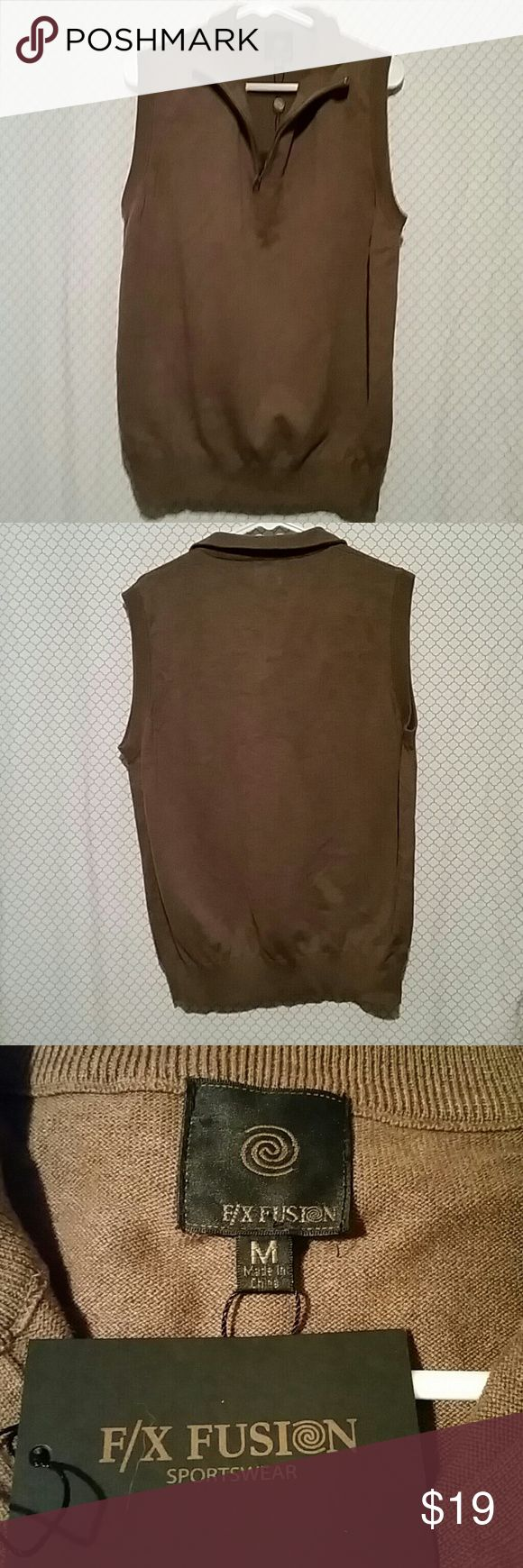 F / X Fusion vest size medium New with tags men's brown vest size medium 55% cotton 45% acrylic F/X FUSION  Sweaters