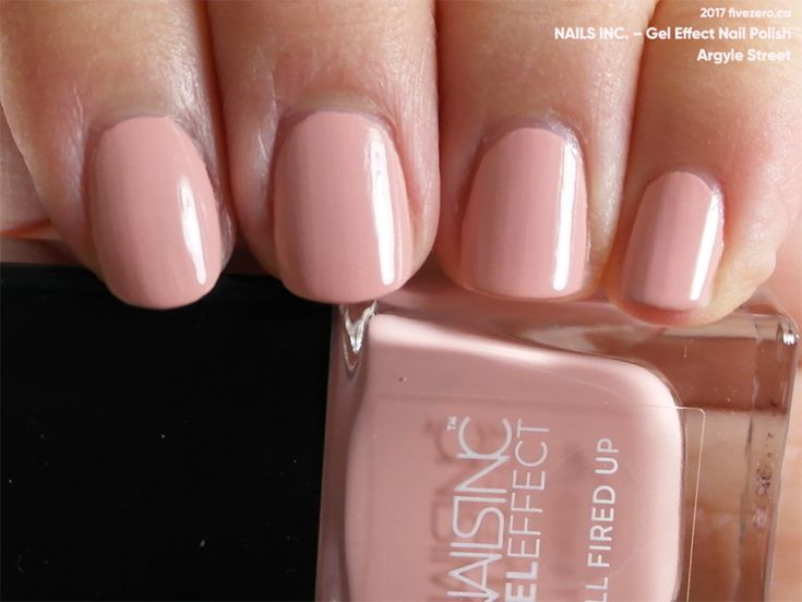 Nails Inc. Gel Effect Nail Polish in Argyle Street (swatch by fivezero.ca)[pink,pastel]