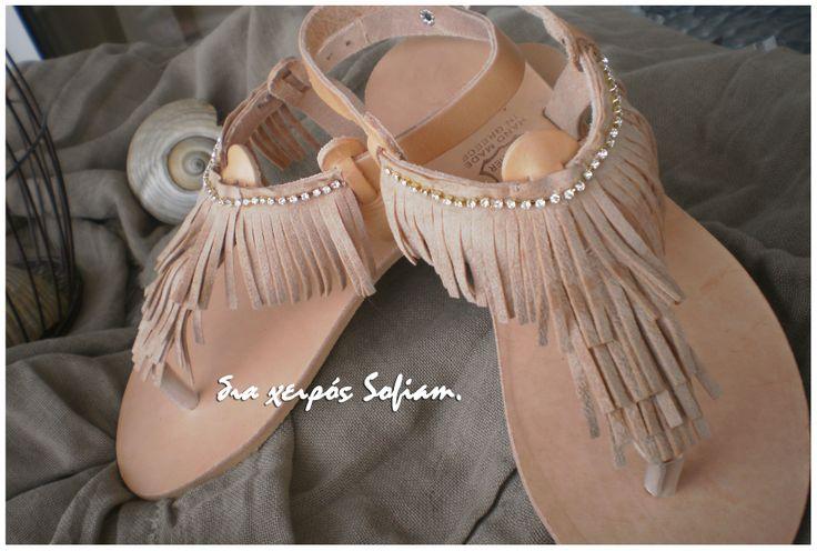 14.018 boho leather sandals