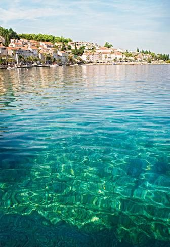 Crystal clear waters  Waters off Korčula, an island off the Dalmatian coast. (Meredith Andrews)