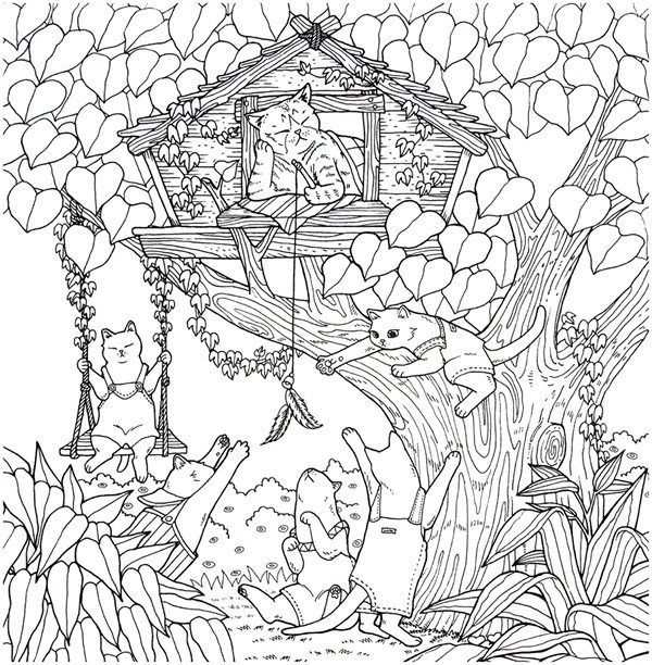 Cat Coloring Therapy Coloring Book Download Unicorn Coloring Pages Coloring Books Cat Coloring Book