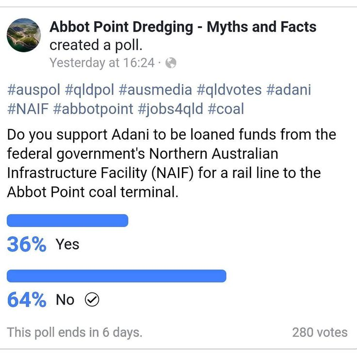 Go to the link in bio and take the poll and tell these guys whether you think the loan to Adani is a good idea or not.  Oh....by the way.....the poll is being run by a pro-adani group.  Thanks for the heads up on this @stopadanigoldcoast   #stoptheloan #climatechange #preservethewonder #stopadanigoldcoast #landrights #landrightsnotminingrights #goldcoast#visitgoldcoast  #stopadani #stopadanigippsland #adani #adanionline  #ig_discover_australia #australiagram #ig_australia #exploringaustralia…
