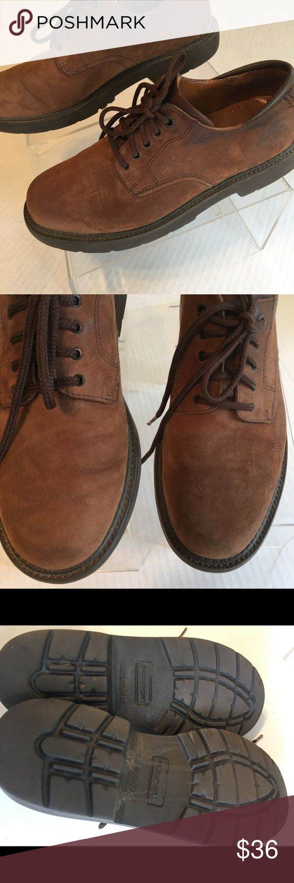 NWOT Rockport Waterproof Shoes These brand new Rockport shoes are made of beautiful nubuck leather. You can tread the roughest terrain in these rugged boots. Hydro Shield construction makes shoes waterproof to ensure your feet stay dry and comfortable. Color is expresso brown. Rockport Shoes Boots