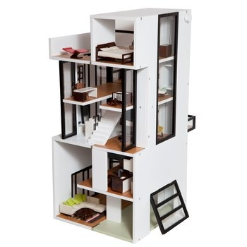 True-to-life Model Dollhouse. Inspired by Gerrit Rietveld's Rietveld's Schröder House, Piet Mondrian's geometric shapes and Christian Liaigre's interior design, the Bennett House stands out as a modernist gem in Levitt Town. $599.00