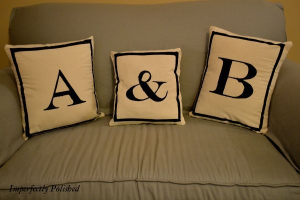 DIY Monogram Pillows