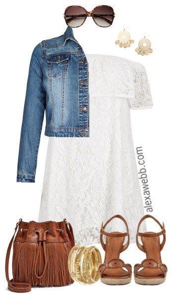Plus Size Lace Boho Dress - Plus Size Outfit Idea - Plus Size Fashion for Women - Alexawebb.com #alexawebb