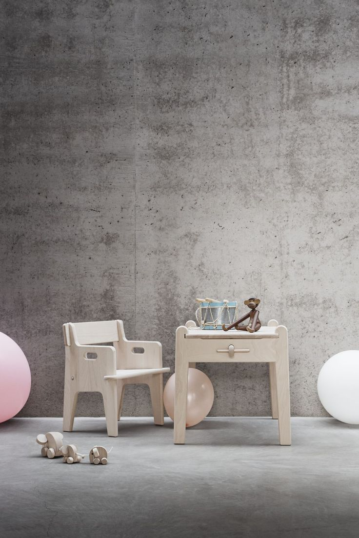 Peter's Chair & Table - part furniture, part toy. Wegner´s classic childrens furniture set can easily be assembled without the use of any tools. Designed in 1944 as a present for Danish designer Børge Mogensen´s son. Peter.