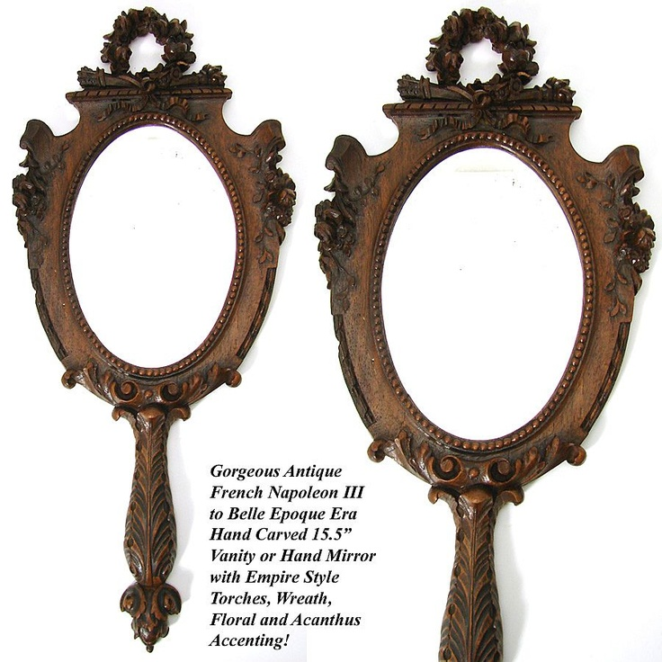 367 Best Images About ANTIQUE HAND MIRRORS&CIA. On