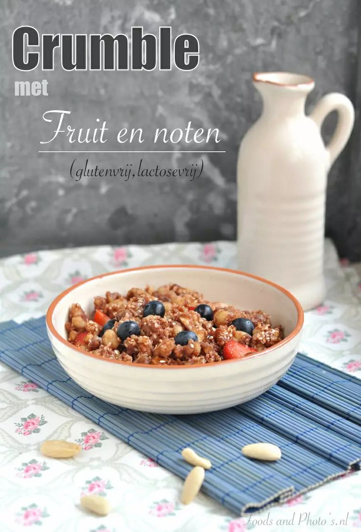 Crumble met fruit en noten van www.foodsandphotos.nl