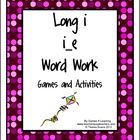 This is a Long i i_e Word Work unit from Games 4 Learning.     It contains 9 Activities and Games to introduce or review the Long i i_e words including those with the patterns ide, ine, ime, ile, ive and ice.