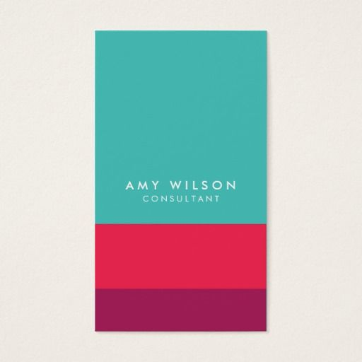 214 best design consultant business cards images on pinterest social media color block turquoise pink purple business card reheart Choice Image