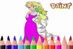 Para las fangirls de Rapunzel le vamos a ofrecer este peculiar juego de pintar a la princesa de Enredado con los colores que el jugador elija. Te imaginas a Rapunzel con el cabello moreno, o tal vez con el cabello azul. Usa tu imaginación para personalizar a Rapunzel.