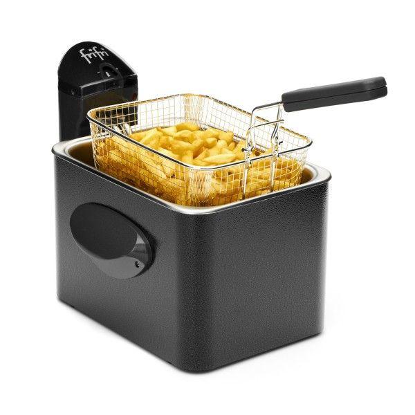 Friteuse Frifri 1905A Rapide, solide et durable grâce à son manteau en métal, la friteuse Frifri 1905A (existe également en gris, blanc, ou rouge) s'installe en toute discrétion dans votre cuisine
