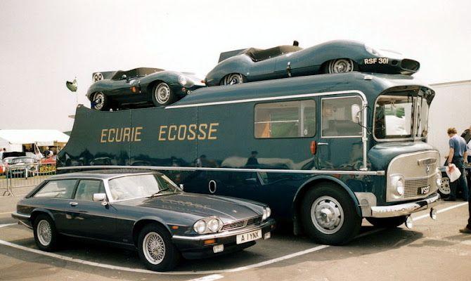Ecurie Ecosse  Jaguar (parking for two, brilliant!)