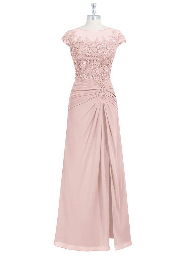 999d27d6bdbb6 Libby MBD is our floor-length dress in an A-line cut. #WeddingParty #Wedding  #CustomDresses #AZAZIE .