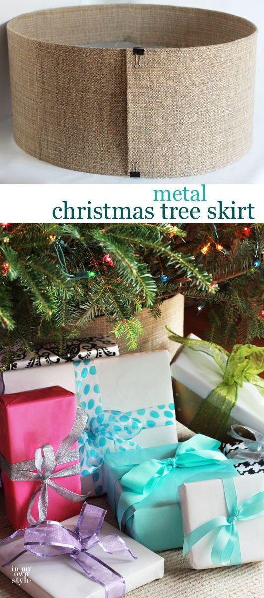 DIY Metal Christmas Tree Skirt Perfect for a stylish yet protective