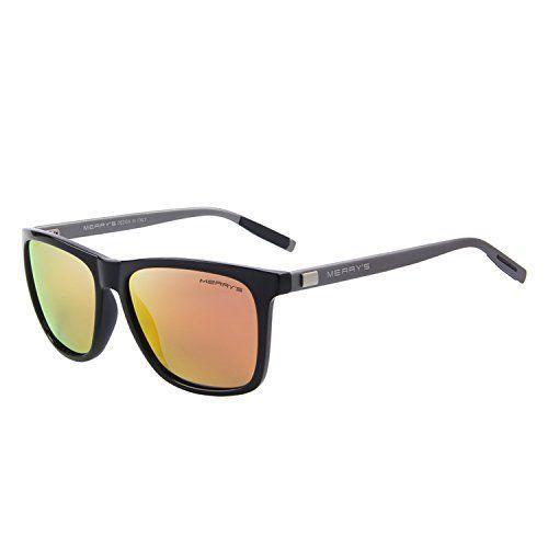 Unisex Sunglasses Glasses Aluminum Polarized Lens Vintage Retro Style Orange NEW #Merrys