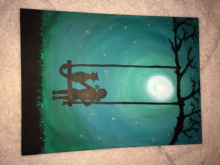 Admire the moon with your best friend (in teal)   https://m.facebook.com/zoes.artwork.1?ref=bookmark