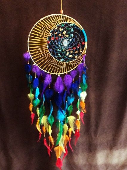 Dream Catcher 12 inch Chakra Moon Moon Motions by MoonMotions