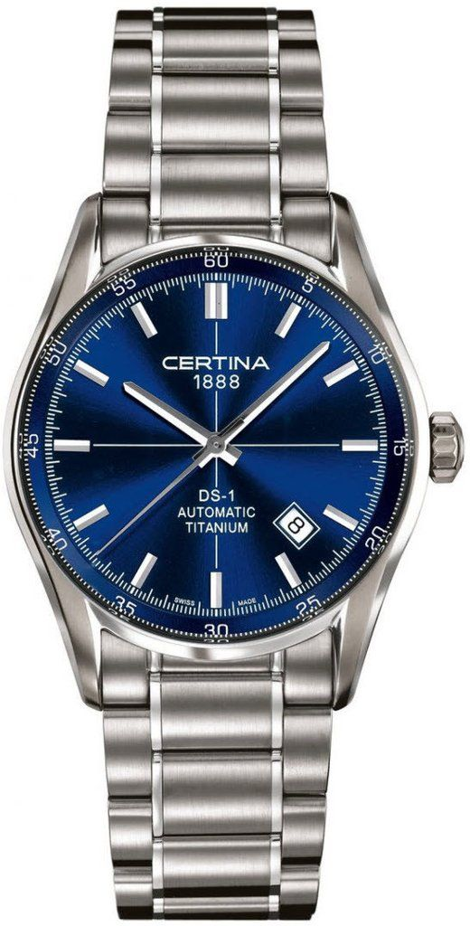Certina Watch DS-1 Index Automatic #bezel-fixed #bracelet-strap-titanium #brand-certina #case-material-titanium #case-width-39mm #date-yes #delivery-timescale-7-10-days #dial-colour-blue #gender-mens #luxury #movement-automatic #official-stockist-for-certina-watches #packaging-certina-watch-packaging #style-dress #subcat-ds-1 #supplier-model-no-c006-407-44-041-00 #warranty-certina-official-2-year-guarantee #water-resistant-100m