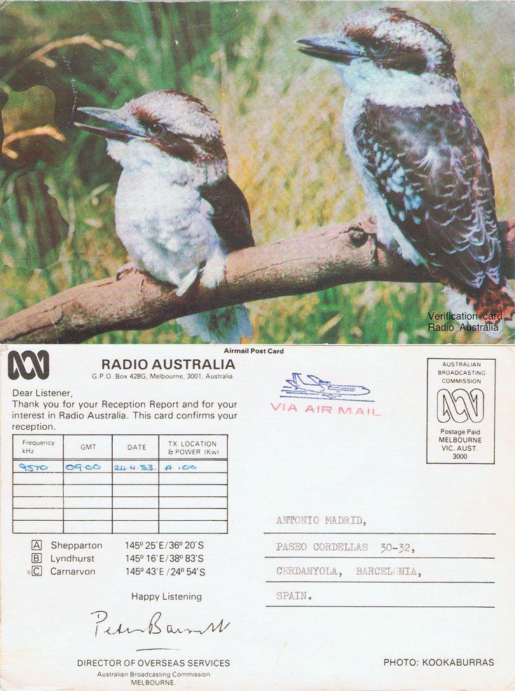 Ayer día 31 de Enero de 2017 fue un día triste para los que escuchamos la Onda Corta a modo de Homenaje publico hoy la primera QSL que recibí de Radio Australia de esta manera decimos adios a esta …