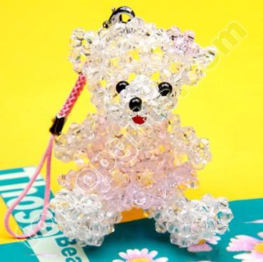 beaded Teddy bear charms