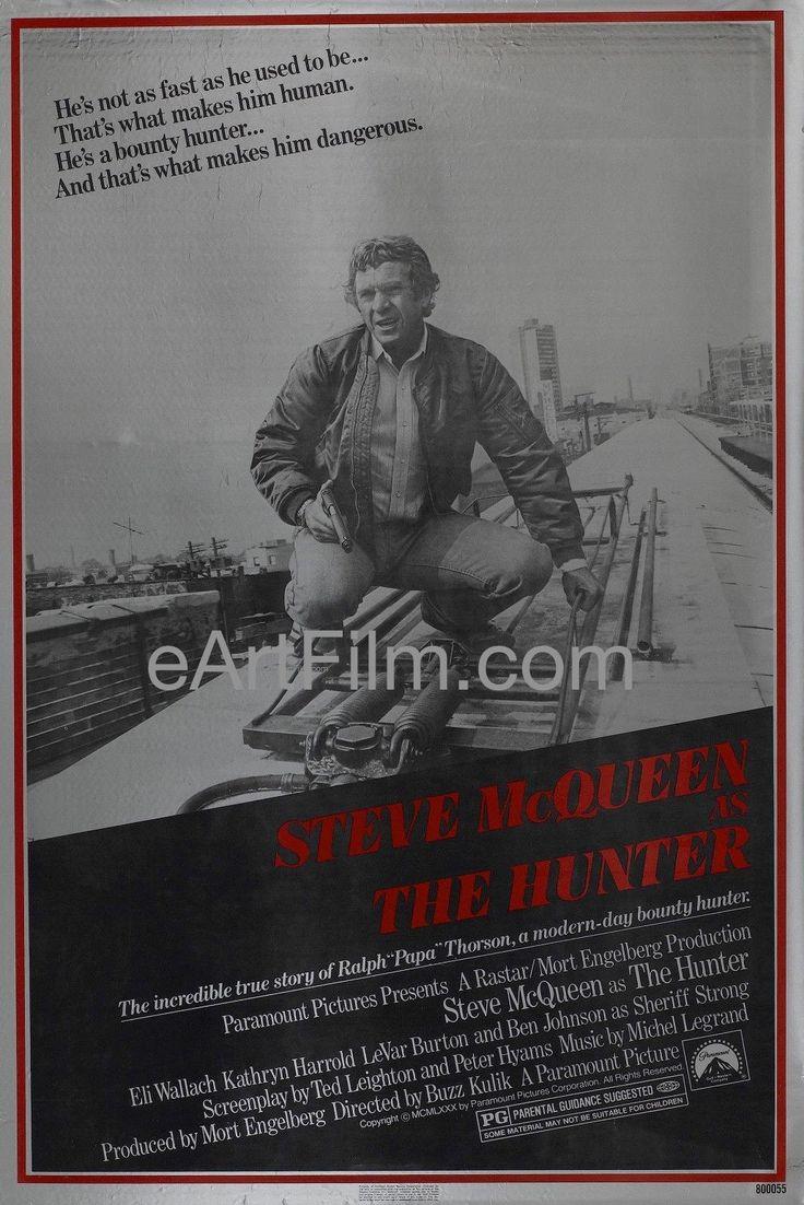 Happy Birthday #SteveMcQueen https://eartfilm.com/search?q=steve+mcqueen #actor #acting #TheToweringInferno #TheThomasCrownAffair #Bullitt #Papillon #KingofCool #movies #film #cinema #movieposters #posters    Hunter, The 1980 27x41 Original U.S One Sheet Movie Poster