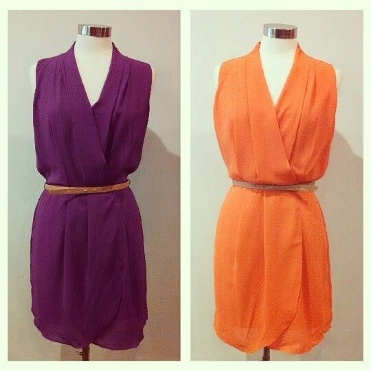 Seeing double in these two amazing dresses with elastic waist and belt! #shophouseofsage www.facebook.com/shophouseofsage  SHOP US! http://house-of-sage.shoptiques.com