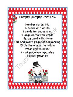17 best images about letter h on pinterest punch art for Humpty dumpty puzzle template