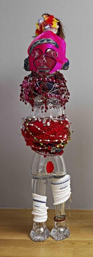 """Pascale Marthine TAYOU  """"Les sauveteurs"""", 2012  cristal, mixed media  150 x 40 x 40 cm  ref. 9425"""