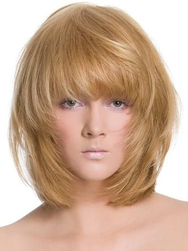 layered shag haircuts layered shag hairstyles glossy medium hair style trends 4778