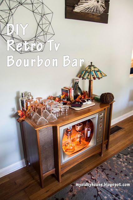Converting an old retro TV into a retro TV bar: My Old Kentucky House Blog