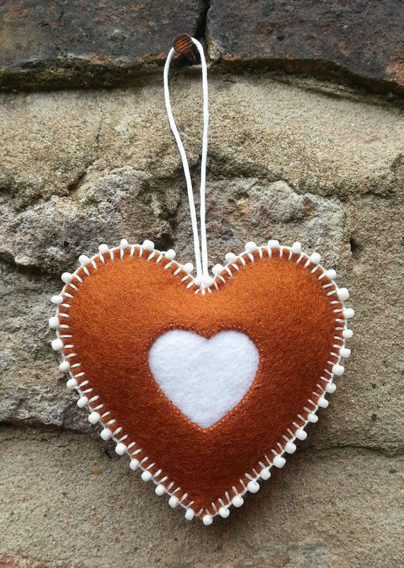 Felt gingerbread christmas beaded ornament by TillysHangout