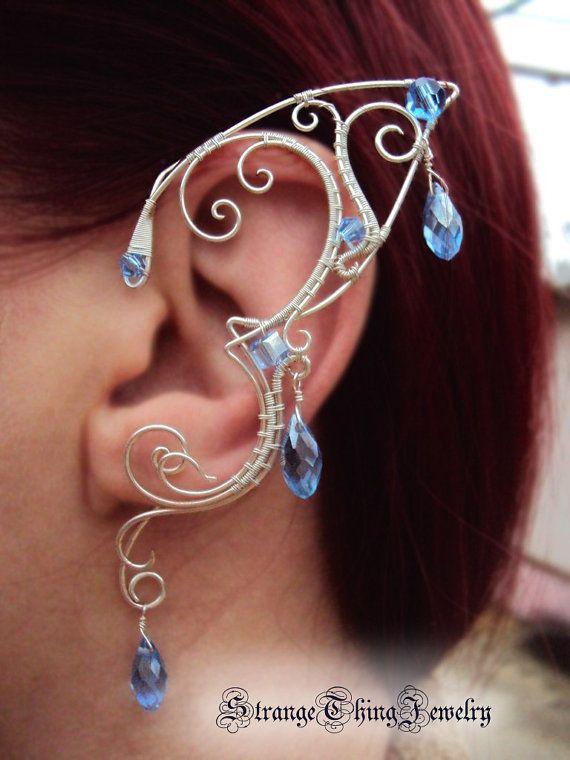 Elven ears ear cuffs Terminal frost by StrangeThingJewelry on Etsy, $21.00