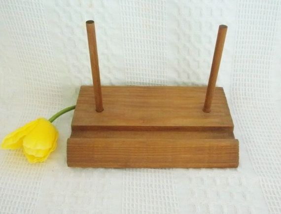 Vintage wooden plate display stand has groove and by GraceYourNest $7.00 & 9 best plate stand images on Pinterest | Wrought iron Blacksmithing ...