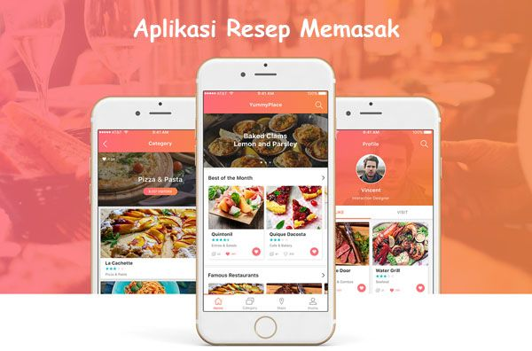 3 Rekomendasi Aplikasi Resep Memasak App Design App Yummy