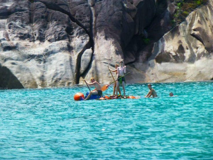 My team the bear minimum for the raft race