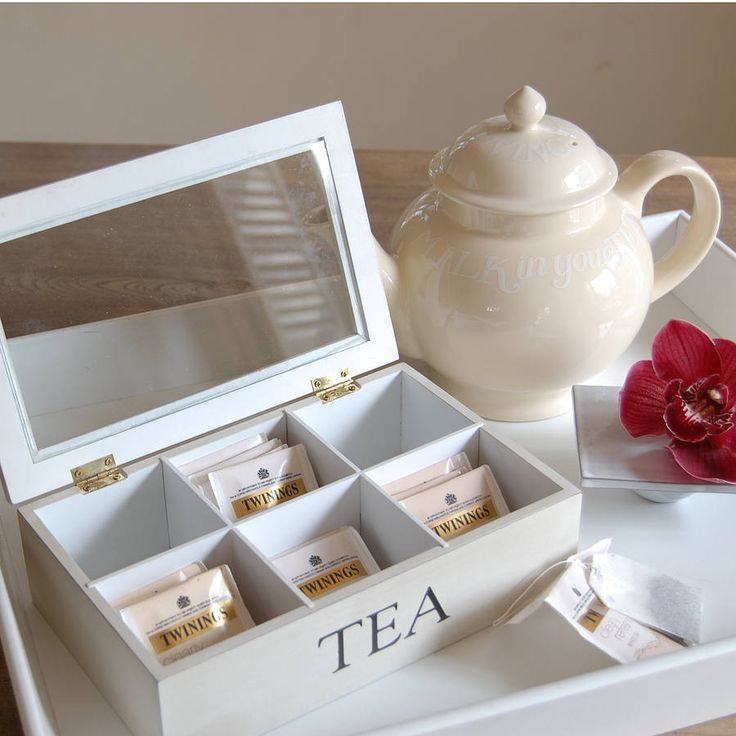 Wooden Tea Box With Six Compartments