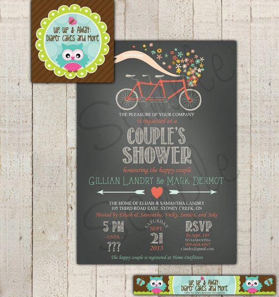 36 best erins bridal shower images on pinterest bicycle wedding couple shower invitation bicycle tandem bicycle wedding shower bridal filmwisefo Choice Image